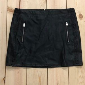 Leather express skirt size 10